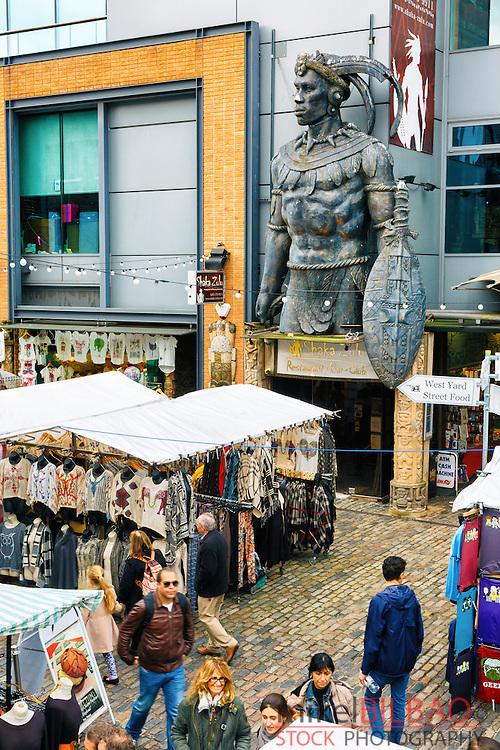 Camden Town Market. London, England, United kingdom, Europe.