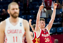 Andrey Vorontsevich of Russia celebrates after winning during basketball match between National Teams of Croatia and Russia at Day 11 in Round of 16 of the FIBA EuroBasket 2017 at Sinan Erdem Dome in Istanbul, Turkey on September 10, 2017. Photo by Vid Ponikvar / Sportida