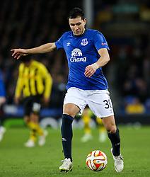 Everton's Antolin Alcaraz in action  - Photo mandatory by-line: Matt McNulty/JMP - Mobile: 07966 386802 - 26/02/2015 - SPORT - Football - Liverpool - Goodison Park - Everton v Young Boys - UEFA EUROPA LEAGUE ROUND OF 32 SECOND LEG