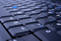 Close-up of laptop keyboard
