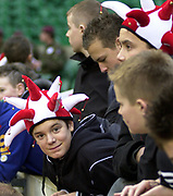 2004_'The Gartmore Challenge' - Barbarians_vs_New-Zealand..Young rugby fans..04.12.2004 Photo  Peter Spurrier. .email images@intersport-images.com...