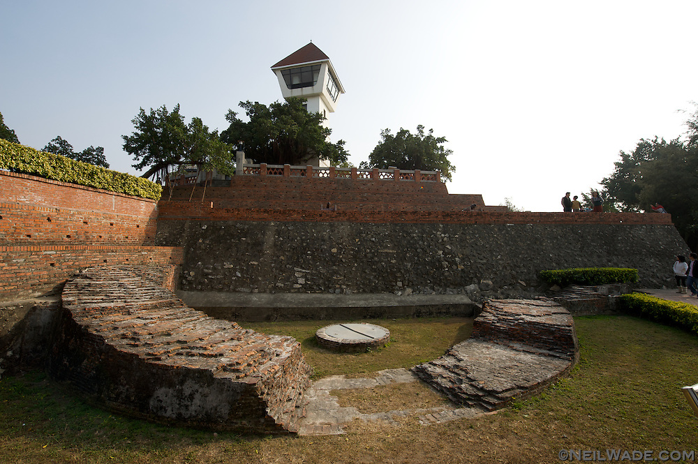 An ancient military bunker outside the walls of the Anping Fort in Tainan, Taiwan.