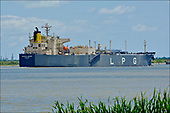 Images of LPG Tanker MT 'Crystal Marine' sailing downstream in the Houston Ship Channel