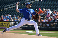 SURPRISE, AZ - MARCH 06:  Nathan Karns #55 of the Kansas City Royals delivers a pitch in the first inning of the spring training game against the Arizona Diamondbacks at Surprise Stadium on March 6, 2017 in Surprise, Arizona.  (Photo by Jennifer Stewart/Getty Images)