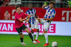 "Adrian Dalmau #9 of Utrecht in action. FC Utrecht convincingly won the practice match against sc Heerenveen. The ""Domstedelingen"" were too strong for SC Heerenveen in Stadium Galgenwaard with 4-1<br /> on August 20, 2020 in Utrecht, Netherlands"