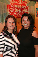 repro free: Vodafone Comedy Carnival : <br /> <br /> Pictured at the launch of the Vodafone Comedy Carnival in the Roisin Dubh were, Serena and Pamela Joyce . The 2016 Vodafone Comedy Carnival runs as part of Vodafone&rsquo;s Centre Stage and is sure to fill the &lsquo;Eyre&rsquo; with laughter with performances from international and home grown comedians over the October bank holiday weekend (25th to 31st of October). Shows will take place in multiple venues across the city, including the brand new venue &lsquo;The Red Box&rsquo; at Eyre Square. Tickets on sale from Monday 29th August. For more for info go to  HYPERLINK &quot;http://www.vodafonecomedycarnival.com&quot; www.vodafonecomedycarnival.com&nbsp; <br /> Photo: xposure.