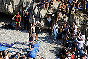 Men's podium during the Red Bull Cliff Diving World Series 2018 on September 23, 2018 in Polignano a Mare, Italy - Photo Marco Verri / ProSportsImages / DPPI