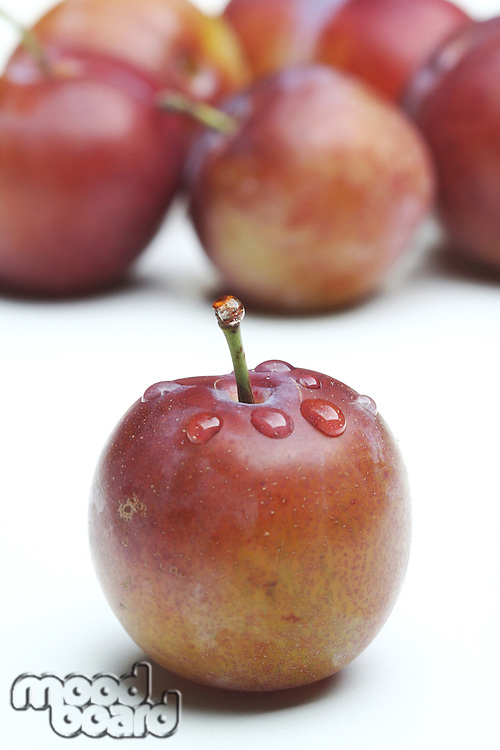 Plums on white bacground - close-up