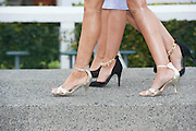 28/07/2014 Shoes and skirts at the first evening of the Galway Summer Racing Festival at Ballybrit in Galway City. Photo:Andrew Downes