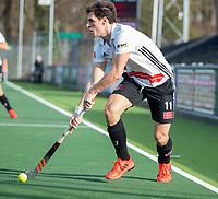 AMSTELVEEN - Boris Burkhardt (Adam)   tijdens de oefenwedstrijd tussen Amsterdam en Bloemendaal heren.   COPYRIGHT  KOEN SUYK