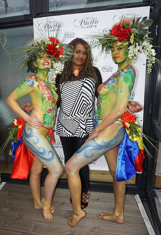 London England,UK: 17th September 2016: LFW S/S 2017 : The London Pacific Collective of A Pacific Fashion Show host by London Pacific Fashion Ltd at Grand Connaught Rooms Rooftop in London. Photo by See Li
