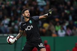 February 3, 2019 - Lisbon, Portugal - Sporting's goalkeeper Renan Ribeiro from Brazil in action during the Portuguese League football match Sporting CP vs SL Benfica at Alvalade stadium in Lisbon, Portugal on February 3, 2019. (Credit Image: © Pedro Fiuza/NurPhoto via ZUMA Press)