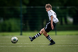 Jens #9 of VV Maarssen  in action. VV Maarssen O14-1 played a friendly game against CDW O15-2. Maarssen won 9-2 on July 11, 2020 at Daalseweide sports park Maarssen.
