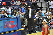 "Mississippi Lady Rebels head coach Matt Insell reacts vs. Georgia at the C.M. ""Tad"" Smith Coliseum in Oxford, Miss. on Thursday, January 15, 2015.  (AP Photo/Oxford Eagle, Bruce Newman)"