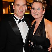 NLD/Den Haag/20111212 - NOC / NSF Sportgala 2011, Helene Wiesenhaan en partner Guido Bonsen, bondscoach gehandicapte sporters