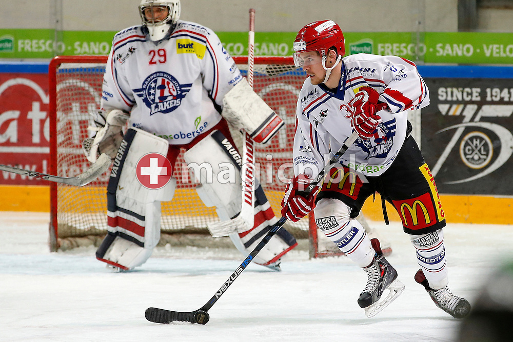 Rapperswil-Jona Lakers forward Valts Peleckis is pictured during an Elite A Ranking Round 9-13 ice hockey game between HC Lugano and Rapperswil-Jona Lakers held at the Pista Resega Arena in Porza / Lugano, Switzerland, Friday, March 18, 2016. (Photo by Patrick B. Kraemer / MAGICPBK)