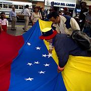 VENEZUELAN POLITICS / POLITICA EN VENEZUELA<br /> Concentration of May 1, Labor Day / Concentracion del 1ero de Mayo, Dia del Trabajador, Caracas - Venezuela 2000<br /> (Copyright © Aaron Sosa)