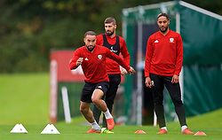 CARDIFF, WALES - Monday, October 15, 2018: Wales' Ashley 'Jazz' Richards during a training session at the Vale Resort ahead of the UEFA Nations League Group Stage League B Group 4 match between Republic of Ireland and Wales. (Pic by David Rawcliffe/Propaganda)