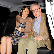 23.JUNE.2009 - LONDON<br /> <br /> A VERY FRAIL LOOKING WOODY ALLEN LEAVING LOCATELLI'S RESTAURANT, MAYFAIR WITH HIS WIFE SOON-YI.<br /> <br /> BYLINE: EDBIMAGEARCHIVE.COM<br /> <br /> *THIS IMAGE IS STRICTLY FOR UK NEWSPAPERS & MAGAZINES ONLY*<br /> *FOR WORLDWIDE SALES OR WEB USE PLEASE CONTACT EDBIMAGEARCHIVE - 0208 9545968*