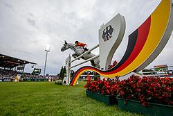 VAN DER VLEUTEN Maikel (NED), Dana Blue<br /> Aachen - CHIO 2019<br /> Mercedes-Benz Nationenpreis - 1. Umlauf<br /> Mannschaftsspringprüfung mit zwei Umläufen<br /> 18. Juli 2019<br /> © www.sportfotos-lafrentz.de/Stefan Lafrentz
