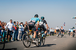 MINALI Riccardo of Astana Pro Team in the peloton during the 115th Paris-Roubaix (1.UWT) from Compiègne to Roubaix (257 km) at cobblestones sector 25 from Briastre to Solesmes, France, 9 April 2017. Photo by Pim Nijland / PelotonPhotos.com | All photos usage must carry mandatory copyright credit (Peloton Photos | Pim Nijland)