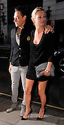 01.JULY.2009 - LONDON<br /> <br /> KATE MOSS AND BOYFRIEND JAMIE HINCE ARRIVING AND LEAVING SCETCH NIGHT CLUB, MAYFAIR FOR THE LAUNCH OF BETH DITTO'S NEW CLOTHES RANGE FOR EVANS SHOPS THAT SHE CO-DESIGNED.<br /> <br /> BYLINE: EDBIMAGEARCHIVE.COM<br /> <br /> *THIS IMAGE IS STRICTLY FOR UK NEWSPAPERS &amp; MAGAZINES ONLY*<br /> *FOR WORLDWIDE SALES &amp; WEB USE PLEASE CONTACT EDBIMAGEARCHIVE - 0208 954 5968*
