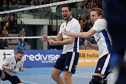20181103 NED: Eredivisie, Sliedrecht Sport - Abiant Lycurgus: Sliedrecht<br />Bart Yark (6), Michael van Leeuwe (4), Niels Vermeulen (1) of Sliedrecht Sport<br />©2018-FotoHoogendoorn.nl / Pim Waslander