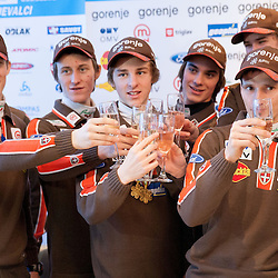 20130129: SLO, Nordic Ski - Press conference of Slovenian Ski jumping teams after great success