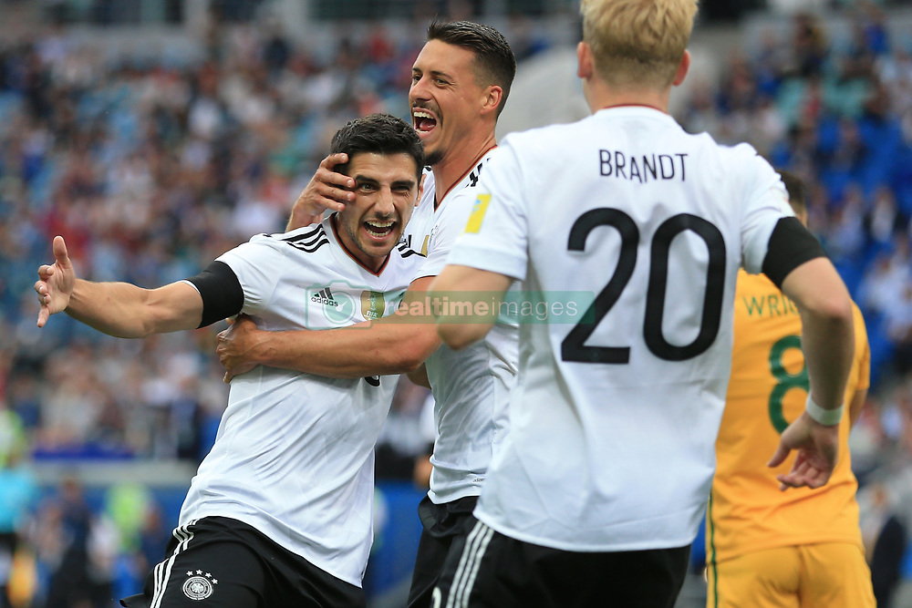 19th June 2017 - FIFA Confederations Cup (Group B) - Australia v Germany - Lars Stindl of Germany celebrates after scoring their 1st goal - Photo: Simon Stacpoole / Offside.