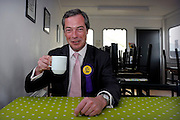 Nigel Farage, UKIP Prospective Parliamentary Candidate for Buckingham pictured at Turweston Aerodrome on 24 April 2010 prior to  flying over the constituency in a plane towing a banner containing the words 'Vote for your country - Vote UKIP'. © under license to London News Pictures.