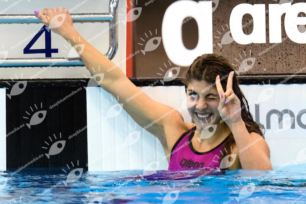 Liliana SZILAGY HUN <br /> 200m Butterfly Women Semi-Final<br /> London, Queen Elizabeth II Olympic Park Pool <br /> LEN 2016 European Aquatics Elite Championships <br /> Swimming<br /> Day 13 21-05-2016<br /> Photo Andrea Staccioli/Deepbluemedia/Insidefoto