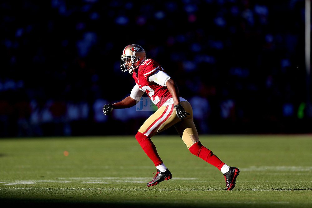 San Francisco 49ers cornerback Carlos Rogers (22) in action against the St. Louis Rams , Sunday, Nov. 11, 2012 at Candlestick Park, in San Francisco, Ca. (AP Photo/Jed Jacobsohn)