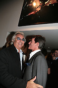 FLAVIO BRIATORE AND TIM JEFFERIES, Helmut Newton XL. Hamiltons. Carlos Place. London. 25 September 2007. -DO NOT ARCHIVE-© Copyright Photograph by Dafydd Jones. 248 Clapham Rd. London SW9 0PZ. Tel 0207 820 0771. www.dafjones.com.