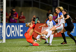 September 19, 2017 - Cincinnati, OH, USA - Cincinnati, OH - Tuesday September 19, 2017: Erin Naylor, Samantha Mewis during an International friendly match between the women's National teams of the United States (USA) and New Zealand (NZL) at Nippert Stadium. (Credit Image: © Brad Smith/ISIPhotos via ZUMA Wire)
