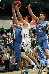 20 February 2016:  Joel Pennington(12) during an NCAA men's division 3 CCIW basketball game between the Elmhurst Bluejays and the Illinois Wesleyan Titans in Shirk Center, Bloomington IL