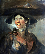 The Shrimp Girl', 1740-1745. Sketch. Oil on canvas. Wiliam Hogarth (1697-1764) English painter, printmaker, cartoonist.  Portrait Street Trader Food Fish.