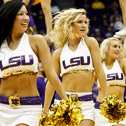 November 12, 2011; Baton Rouge, LA; LSU Tigers Tiger Girls dance team performs during the first half of a game against the Nicholls State Colonels at the Pete Maravich Assembly Center.  Mandatory Credit: Derick E. Hingle-US PRESSWIRE