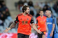 Real Sociedad's Inigo Martinez (l) and Xabi Prieto celebrate goal during La Liga match.March 16,2015. (ALTERPHOTOS/Acero)