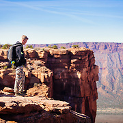 Kaleb pre- BASE jump near castleton towers outside of Moab Utah