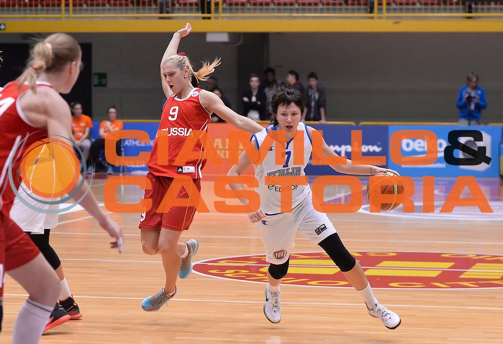 DESCRIZIONE : Schio Torneo Famila cup Italia Russia Italy Russia<br /> GIOCATORE : Giorgia Sottana<br /> CATEGORIA : palleggio<br /> EVENTO : Schio Torneo Famila cup Italia Russia Italy Russia<br /> GARA : Italia Russia Italy Russia<br /> DATA : 28/12/2014<br /> SPORT : Pallacanestro<br /> AUTORE : Agenzia Ciamillo-Castoria/R.Morgano<br /> Galleria: Fip Nazionali 2014<br /> Fotonotizia: Schio Torneo Famila cup Italia Russia Italy Russia<br /> Predefinita :