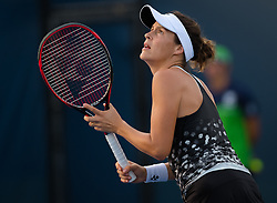 August 11, 2018 - Tatjana Maria of Germany in action during qualifications at the 2018 Western & Southern Open WTA Premier 5 tennis tournament. Cincinnati, USA, August 11, 2018 (Credit Image: © AFP7 via ZUMA Wire)