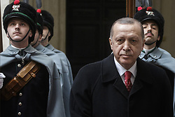 February 5, 2018 - Rome, Italy - Turkey's President Recep Tayyip Erdogan meets with Italian Prime Minister Paolo Gentiloni at Chigi Palace in Rome, Italy on February 05, 2018. (Credit Image: © Giuseppe Ciccia/Pacific Press via ZUMA Wire)