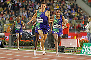Soufiane El Bakkali (Morocco), Getnet Wale (Ethiopia), Men's 3000m Steeplechase, during the IAAF Diamond League event at the King Baudouin Stadium, Brussels, Belgium on 6 September 2019.