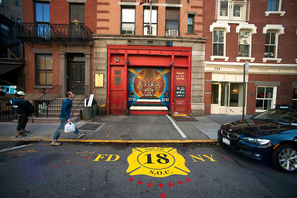 FDNY Firehouse, West Village, New York.