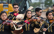 Members of the Sam Houston Mariachi perform during a groundbreaking ceremony for new Sam Houston Math, Science and Technology Center School, March 24, 2017.