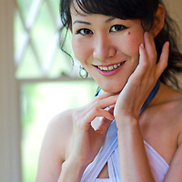 Mayu Iwasaki poses for a portrait in Lenox, Massachusetts.