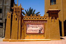 Sign showing direction to Timbuctu in Zagora, Morocco<br /> <br /> (c) Andrew Wilson | Edinburgh Elite media