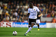 VALENCIA, SPAIN - APRIL 20: Aly Cissokho of Valencia CF in action during the Liga BBVA between Valencia CF and Malaga CF at the Mestalla stadium on April 20, 2013 in Valencia, Spain. (Photo by Aitor Alcalde Colomer).