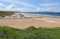 Portstewart Strand, Portstewart, Co Londonderry, N Ireland, UK, sunny day, blue sky, white clouds, July, 2015, 201507251197<br />