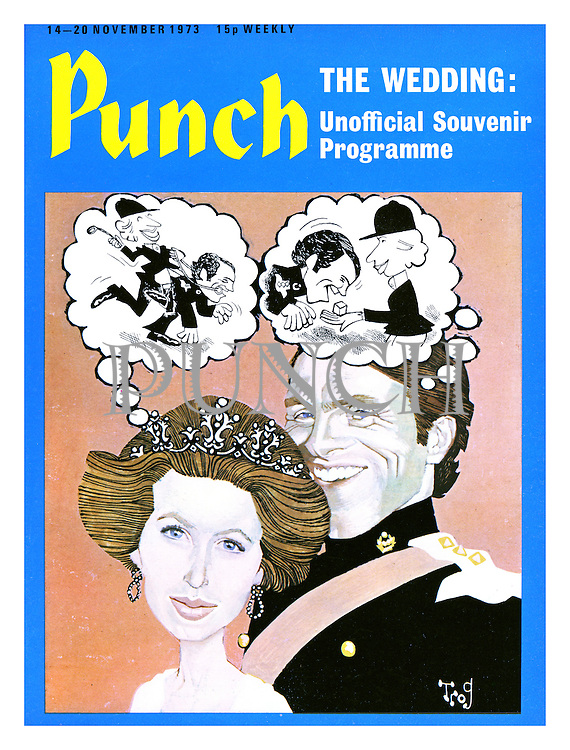 Punch cover 14 - 20 November 1973. The Wedding: Unofficial Souvenir Number